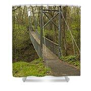Ramsey Swing Bridge 2 Shower Curtain