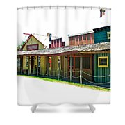Ranch Buildings - White Shower Curtain