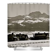Ranch With A View Shower Curtain