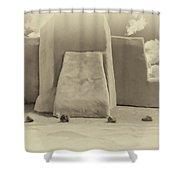 Ranchos Church Antique Plate  Shower Curtain