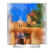Ranchos Church Gate - Aquarell Shower Curtain