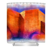 Ranchos Nave - Watercolor Shower Curtain
