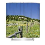 Rangeland Wild Flowers Shower Curtain
