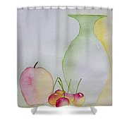 Ranier Cherries And A Pink Lady Shower Curtain
