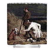 Ranney: Duck Shooting Shower Curtain