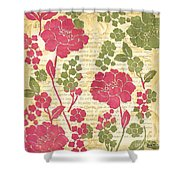 Raspberry Sorbet Floral 1 Shower Curtain