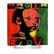 Rasta Baby Shower Curtain