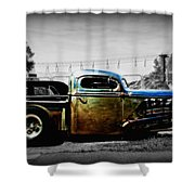 Rat Rod Profile Shower Curtain