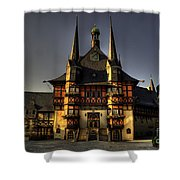 Rathaus At Wernigerode Shower Curtain