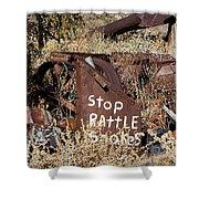 Rattlesnake Warning Shower Curtain