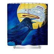 Raven Spirit Shower Curtain
