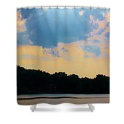 Rays Above Shower Curtain