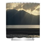 Rays Of Sunlight Through Clouds Shower Curtain