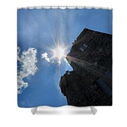 Rays On The Castle Shower Curtain