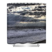 Rays Over The Atlantic Shower Curtain