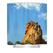 Reaching Upward Shower Curtain