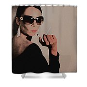 Reaction Shower Curtain by Naxart Studio