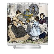 Reading, 1866 Shower Curtain