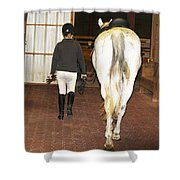 Ready For The Dressage Lesson Shower Curtain