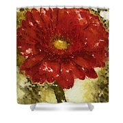 Really Red Posey Shower Curtain