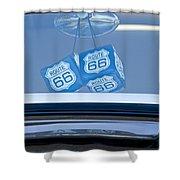 Rear View Mirror Dice Shower Curtain