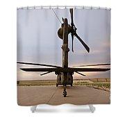 Rear View Of A Uh-60l Black Hawk Shower Curtain