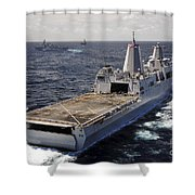 Rear View Of Uss Green Bay Shower Curtain