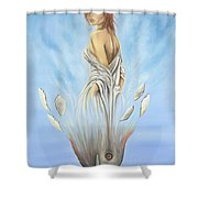 Rebirth Of A Woman - Ascension Shower Curtain