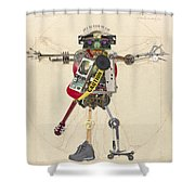 Reconstructed Man Shower Curtain