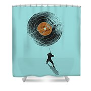 Record Breaker Shower Curtain