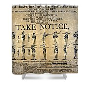 Recruiting Broadside, C1798 Shower Curtain