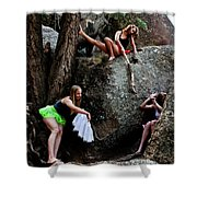 Recruiting Wild Untamed Dancers Shower Curtain