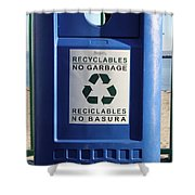Recycling Bin Shower Curtain by Photo Researchers, Inc.