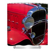 Red 1932 Oldsmobile Shower Curtain