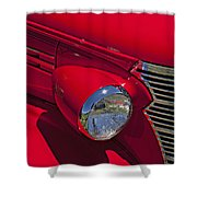 Red 1938 Chevy Coupe Shower Curtain