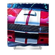 Red 1966 Mustang Shelby Shower Curtain