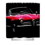 Red Alfa Romeo 1600 Giulia Spider Shower Curtain
