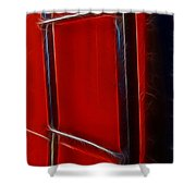 Red And Black Train Ladder Shower Curtain
