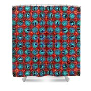 Red And Blue Abstract Shower Curtain