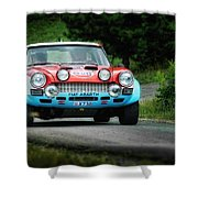 Red And Blue Fiat Abarth Shower Curtain