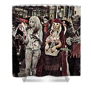 Red And Her Crew  Shower Curtain