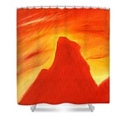 Red And Orange Shower Curtain