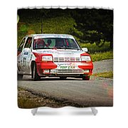 Red And White Renault 5 Shower Curtain