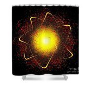 Red And Yellow Star Shower Curtain