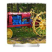 Red And Yellow Tractor Shower Curtain
