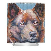 red Australian Kelpie Shower Curtain