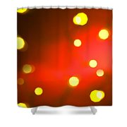 Red Background With Gold Dots Shower Curtain