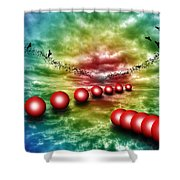 Red Balls  Shower Curtain