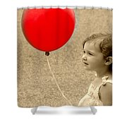 Red Baloon Shower Curtain
