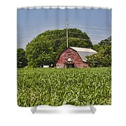 Red Barn - What Charm Shower Curtain